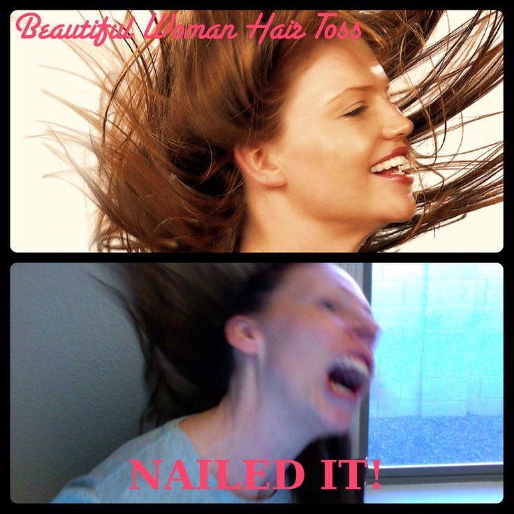 Nailed It! Bekah  this made me think of the many hair flip pics with you and Suzanne.
