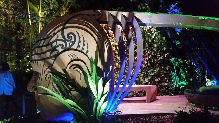 Singapore Flower Festival 2016 for New Zealand - Modern Day Maui by Adam Shuter