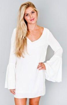 Bachelorette Dress ~ White Chiffon