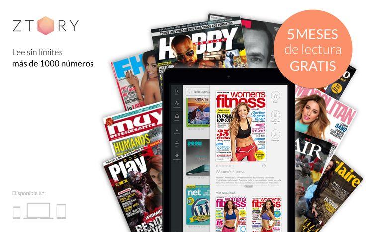 WeFitter - Únete al #RetoZtory y podrás ganar 5 meses gratis de lectura sin límites para tus revistas preferidas