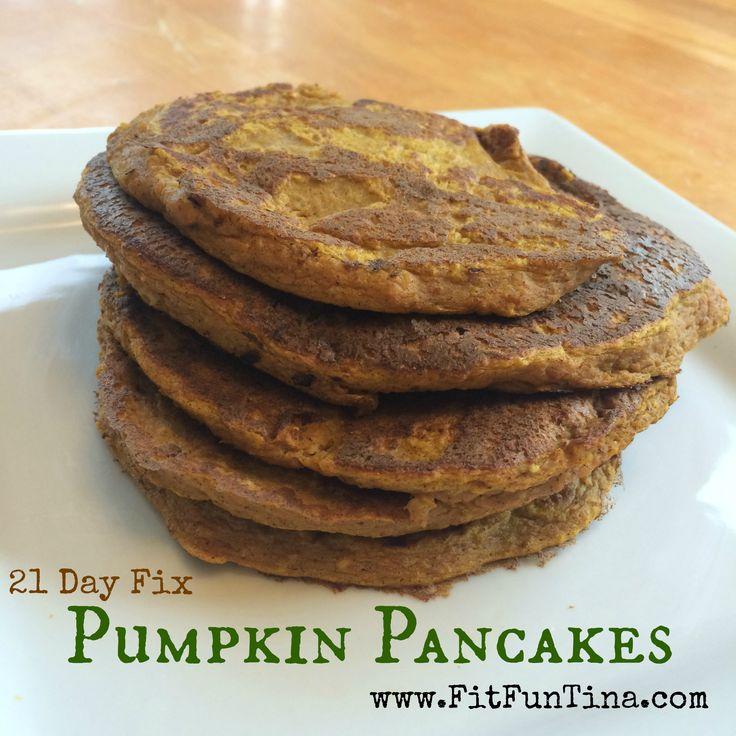 21 Day Fix Pumpkin Pancakes - Gluten Free