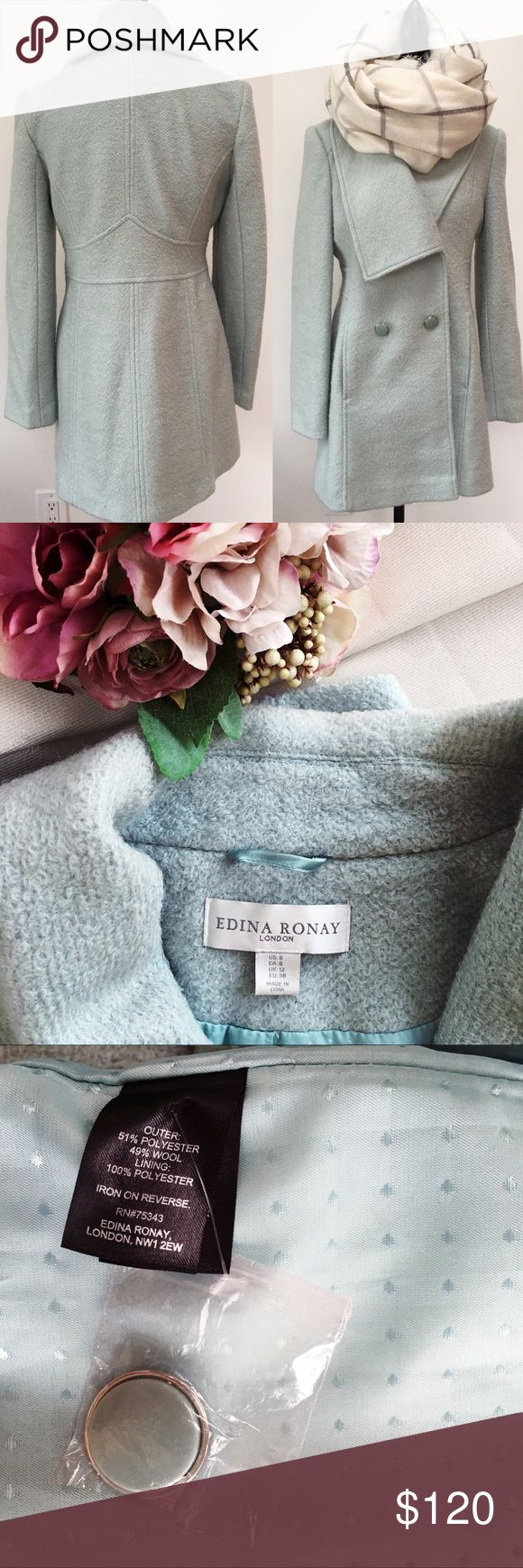 NWOT Edina Ronay London Peacoat New without tags!! Gorgeous mint Peacoat by Edina Ronay London! No stains or rips👌 Edina Ronay London Jackets & Coats Pea Coats