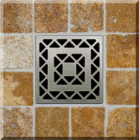 Ebbe Square Shower Drains. Ebbe square drain is the best solution for your new bathroom remodeling! Not only a stylish high-end drain, its also easier to cut tile to a square drain than to cut, nip and grind it to fit a round one.