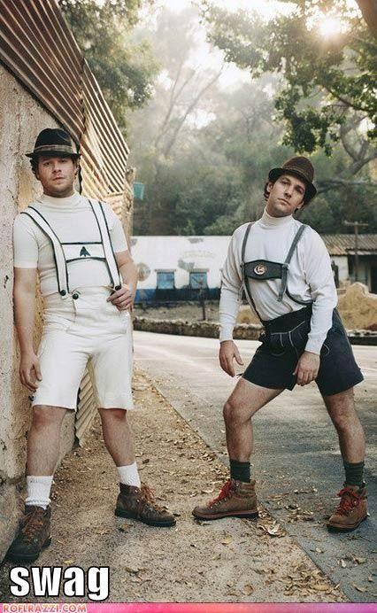 Seth Rogen and Paul Rudd. Swag.  Photo by Chris Buck.