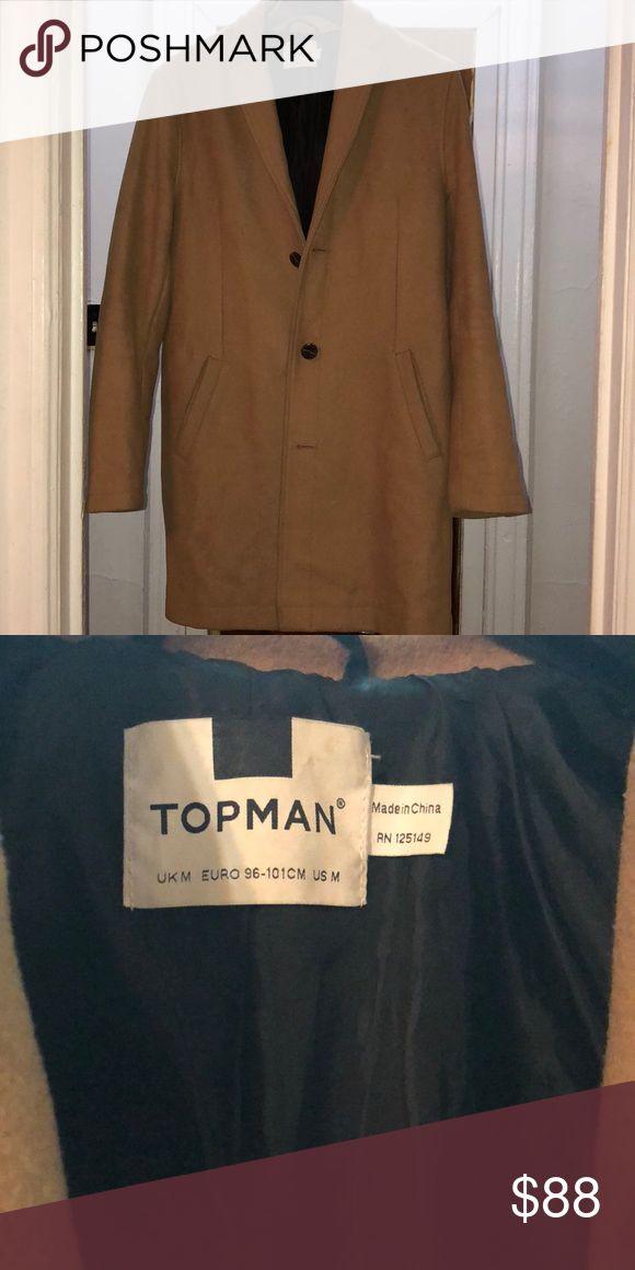 Top man jacket Tan Topman jacket size medium. Retail for 280!!! Topman Jackets & Coats Pea Coats