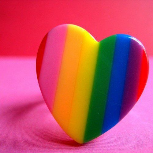 ~` rainbow heart `~