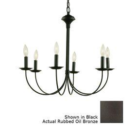 Portfolio 6 Light New Century Oil Rubbed Bronze Chandelier 14038 Dining Room