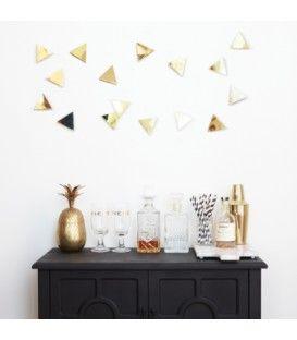 Triangles dorés décoratifs CONFETTI