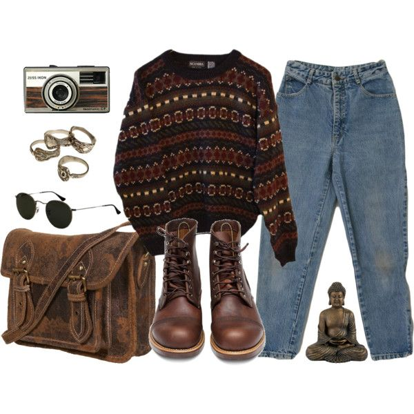 A fashion look from May 2014 featuring INDIE HAIR sweaters, Red Wing ankle booties and Ray-Ban sunglasses. Browse and shop related looks.