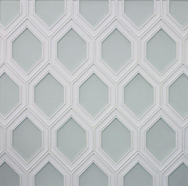 Detailed Honeycomb Matte And Gloss Backpainted Glass Edgewater Studio