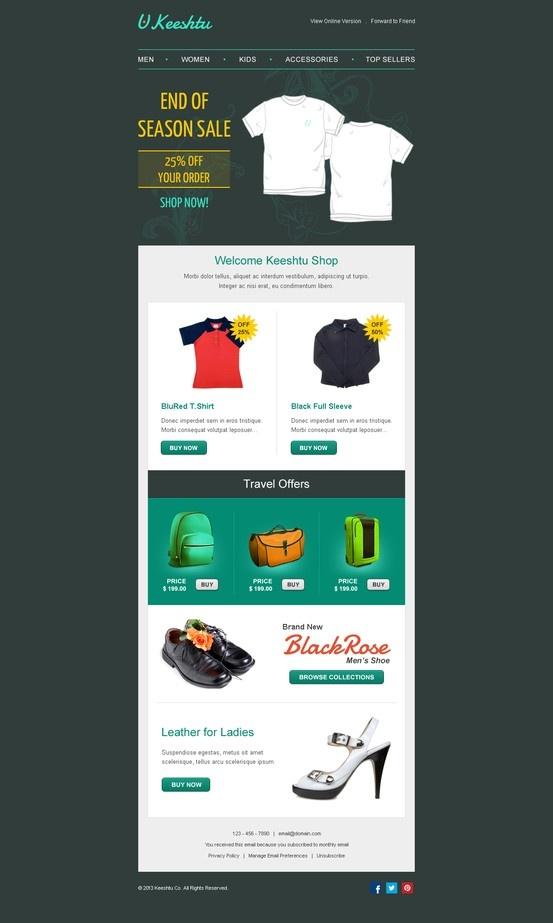 sales newsletter templates