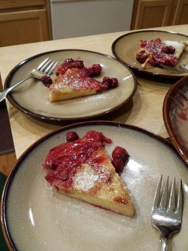 Sour cherry dutch baby, using smitten kitchen's recipe ...