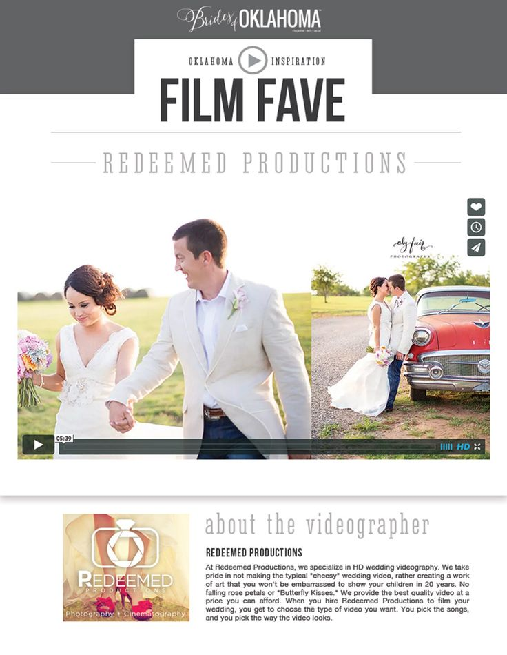 Oklahoma Wedding Highlight Video - Redeemed Productions - Brides of Oklahoma
