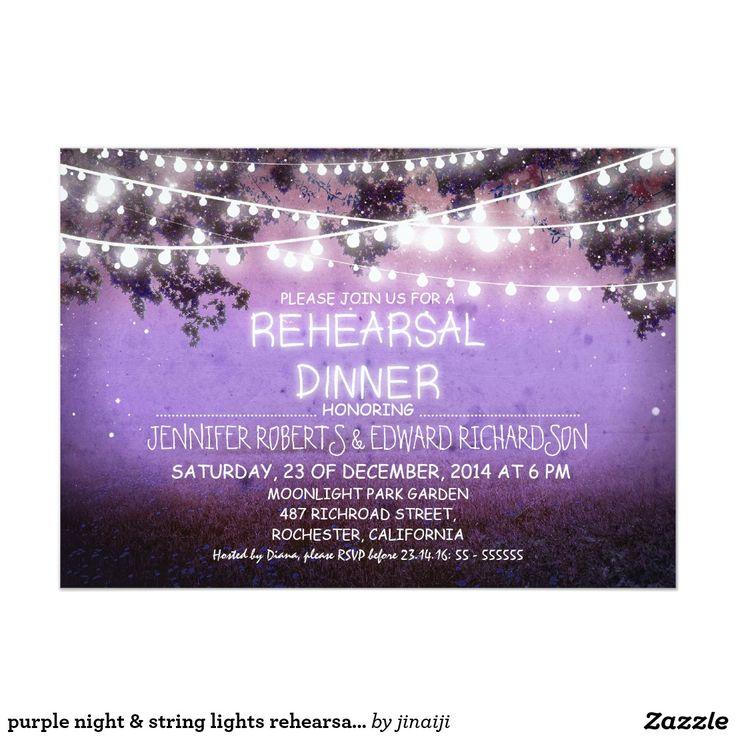 creative wording for rehearsal dinner invitations%0A purple night  u     string lights rehearsal dinner
