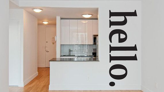 Wall Decal Hello Word w002 by RoomDecalsAndDesigns on Etsy