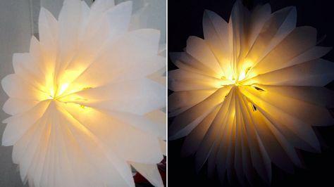 Einige Zuschauerinnen haben Martina Lammel auf die Idee der Sterne aus Vespertüten aufmerksam gemacht. Unsere Designerin hat sich überlegt, wie man die Sterne in leuchtende Lampions umfunktionieren könnte. Hier ist die Lösung!