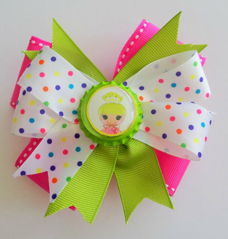 LALALOOPSY HAIR BOW. Girls hair bow. Hair bow for by pixieclip, $7.50