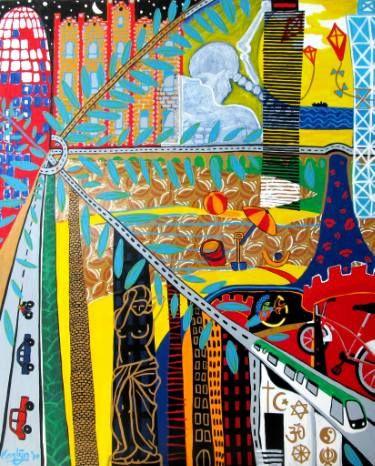 "Saatchi Art Artist Karlijn Surminski; Collage, ""Sant Martí"" #art"