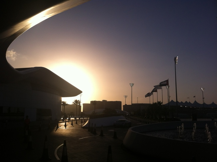 F1 sunset.