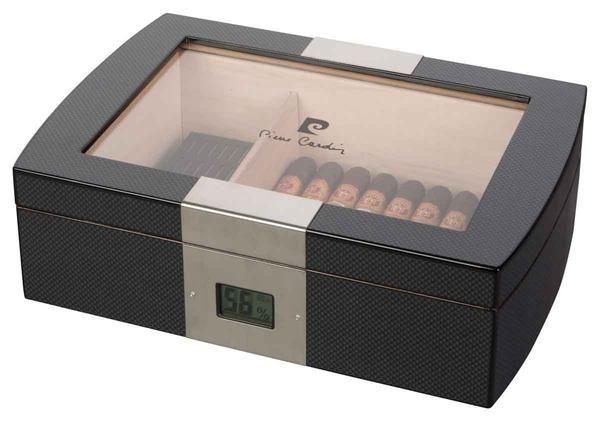 Pierre Cardin Milton Glass Top Cigar Humidor