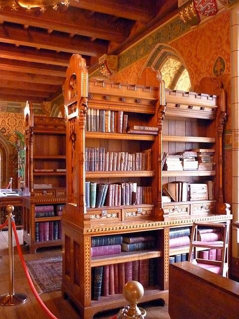 The Library, Cardiff Castle, Cardiff, South Wales, by William Burges. Interior (continued)