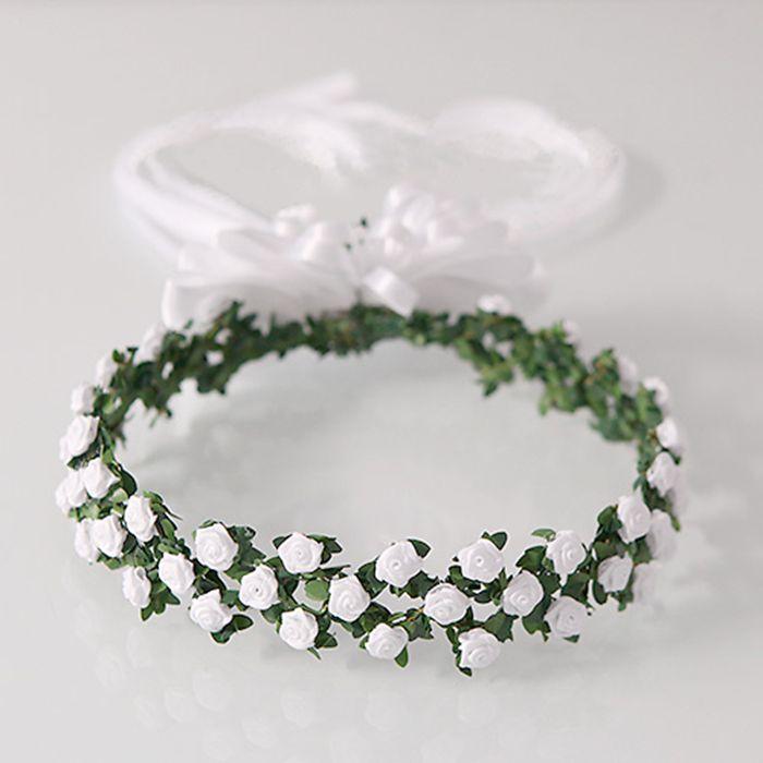 Wianek Komunijny Drobne Rozyczki Flower Crown Wedding Flower Girl Wreaths Hair Accessories Set
