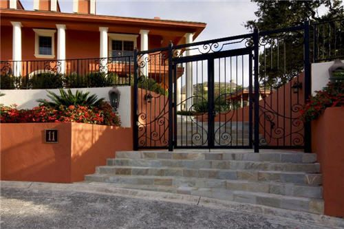 Even the gate for this San Antonio home is exquisite!