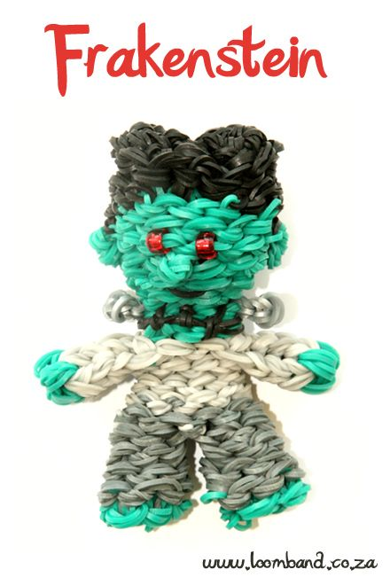 3D Frankenstein loom band tutorial http://loomband.co.za/3d-frankenstein-loom-band-tutorial/