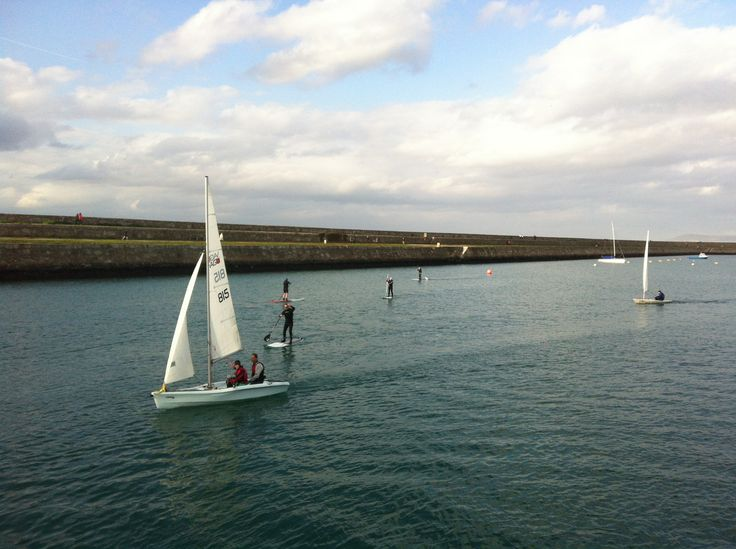 Sup'ing Dun Laoghaire harbour