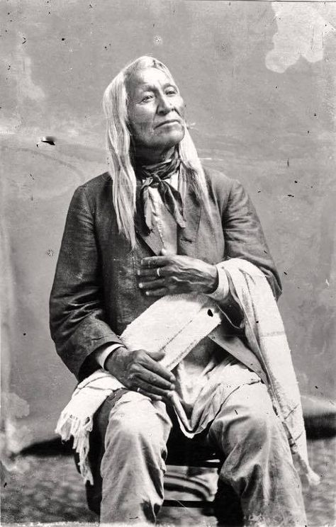 Shoshone Chief Washakie. Born in Montana 1804, Died at Fort Washakie Wyoming 1900, lived a full and rich life as a warrior ,Peacemaker and Polotician, ended up as Chief of all The Shoshone.