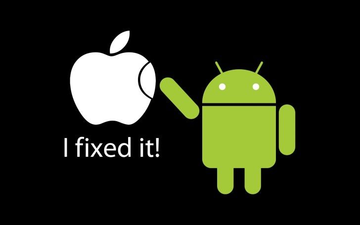 Android Wallpapers : Funny Aple Android Wallpaper
