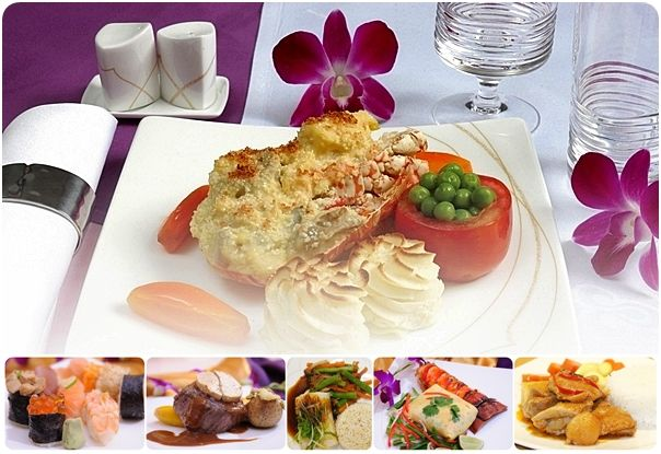 THAI Airways ROYAL FIRST and ROYAL SILK Meals