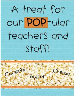 Strong Armor: Teacher Appreciation - Donuts, Popcorn, Dips (Printables)