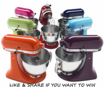 60 Free KitchenAid Stand Mixers Being Given Away – Enter Contest Sixty (60) Prizes (each a KitchenAid Artisan Series Stand Mixer ARV. $599 CAD each. Contest ends Nov 30 2017.