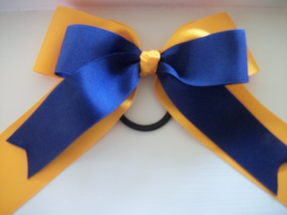 Cheer Dance Team Hair Bow with Tails, Extra Large