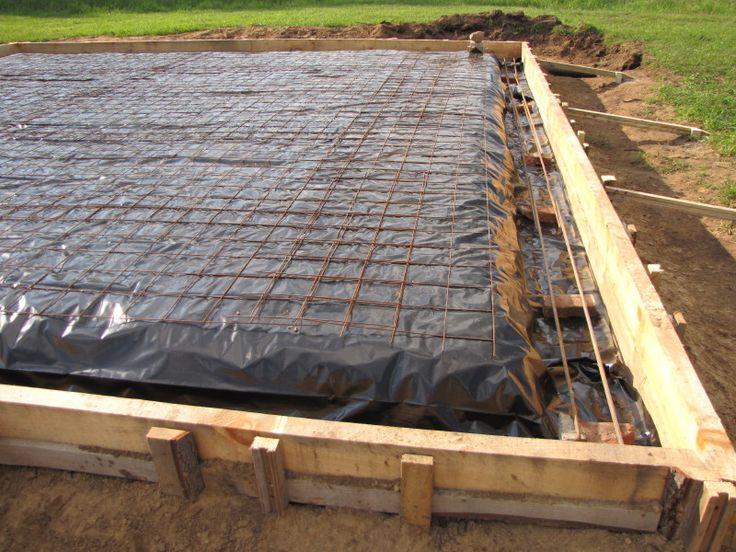 Forming Vapor Barrier And Steel For Monolithic Slab Pour