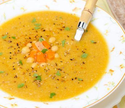 Receta de cuaresma: Crema de garbanzos - Deliciosas recetas de cocina con foto: arroz, legumbres, carnes, postres...