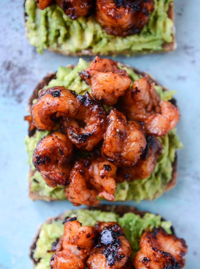 Shrimp and lime avocado toast make for a quick and hearty breakfast or delicious lunch!