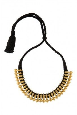 Black Thread Kerala Necklace