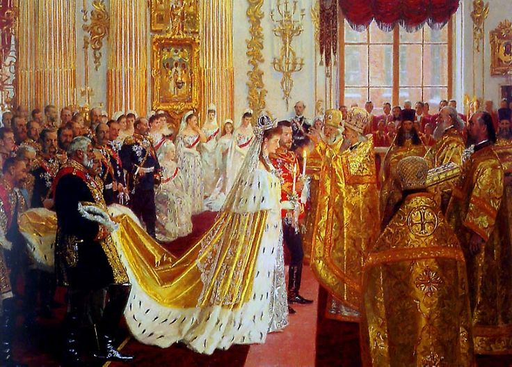 Wedding of Nicholas II and Alexandra at the Winter palace church on November 14, 1894. | RARE Antiquarian Books and Royal Photographs for Sale .. http://www.goodreads.com/author_blog_posts/2315123-the-wedding-of-nicholas-ii-and-his-alix-of-hesse