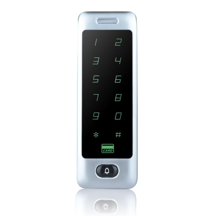 IP65 Standalone Touch Access Controller Metal Keypad RFID Door Lock Access Control System With Door Bell Function-C40 silver