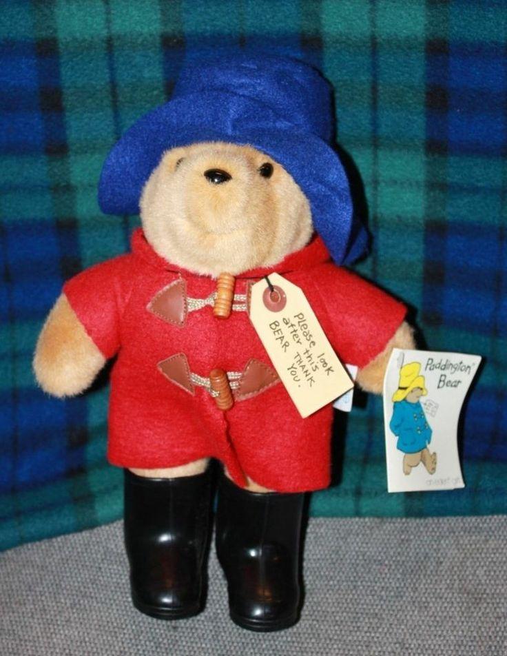 Eden Paddington Bear Red Jacket Blue Hat Black Boots Free