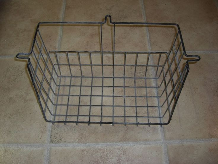 Plastic Coated Hanging Black Wire Baskets Steampunk Industrial Freezer Many Uses