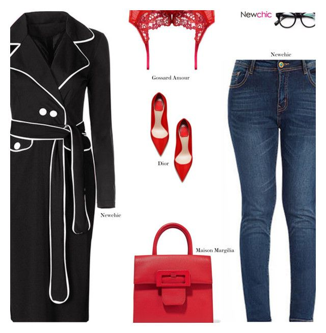 """NewChic"" by s-thinks ❤ liked on Polyvore featuring Maison Margiela, Gossard, minimal, minimalism and Minimaliststyle"