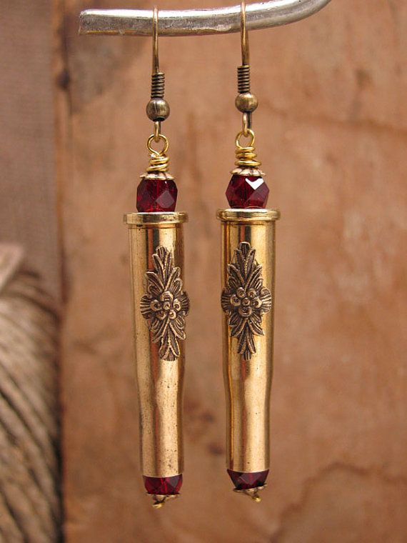 Bullet Jewelry  Straight Shooter 22 Hornet Brass by thekeyofa, $32.00
