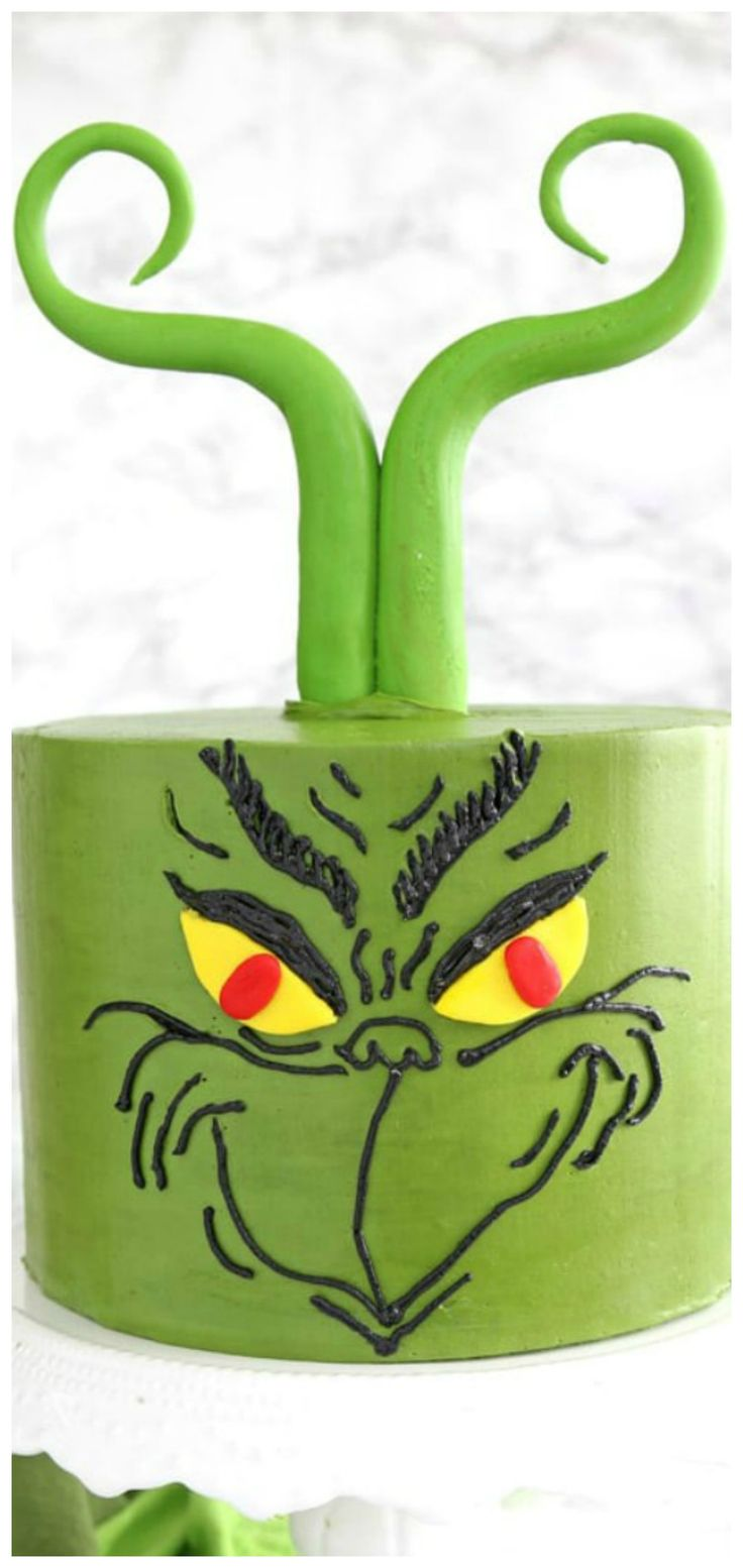 Grinch Cake Recipe and HowTo (With images) Grinch