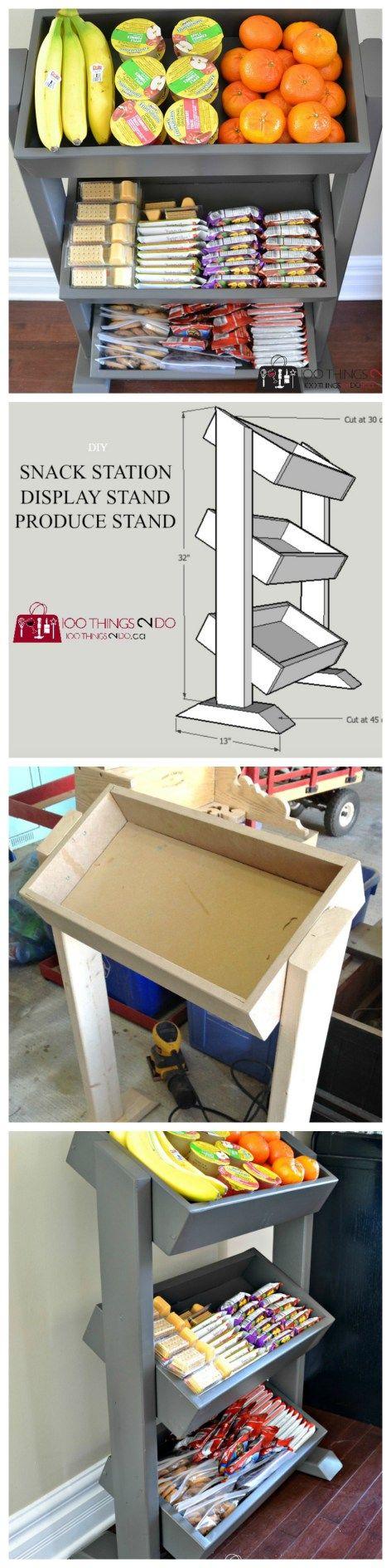 DIY Snack Station - DIY Produce Stand - DIY Display Stand