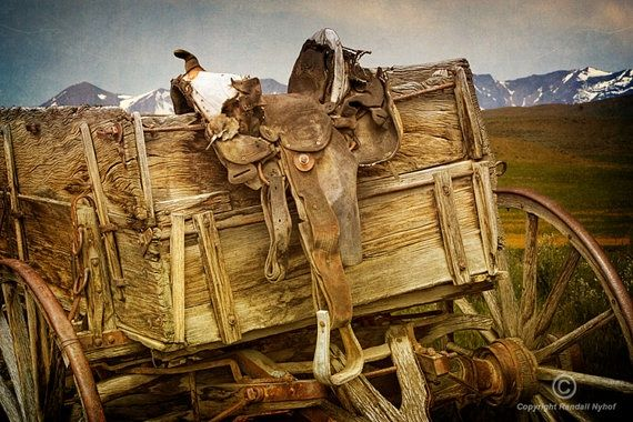 images of old western wagons | Old Western Wagon and Saddle