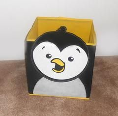 Penguin Storage Bin - the nursery could literally be head-to-toe penguin if I indulged in everything I found on this website!