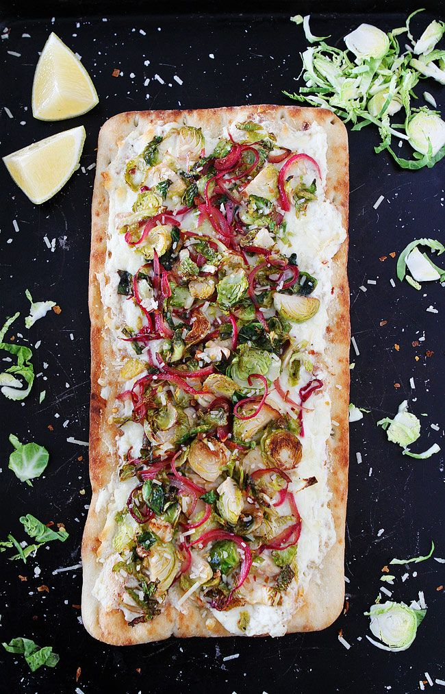 Brussels Sprouts Flatbread Recipe | Two Peas & Their Pod